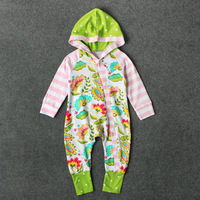 Baby Boys Flowers Romper Spring Autumn Long Sleeve Baby Hooded Rompers Newborn Infant Sleepers Toddler Coveralls Cute Costume