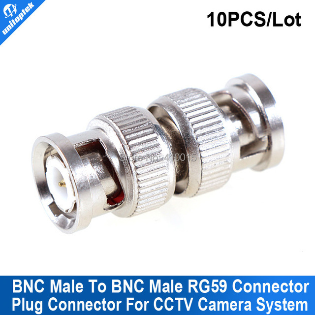 10PCS/lot CCTV BNC male Connector BNC TO BNC compression bnc male RG59