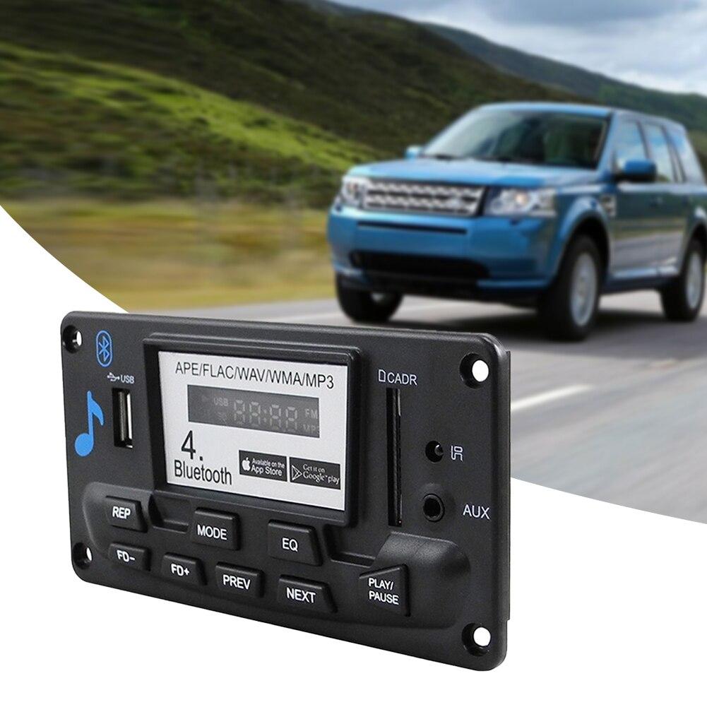 MP3 Decoder Board Bluetooth 4.0 Wireless Aux Accessories Car Interior Professional Module Digital Audio Receiver LCD WAV WMA