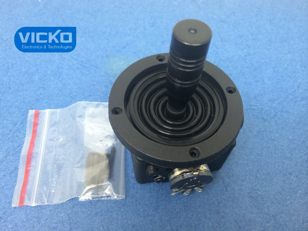 [VK] JH-D202X-R2/R4 JH-D202X-R4 10K Electric Joystick potentiometer 2D Monitor Keyboard ball joyrode controller switch 1pc 4 axis plastic joystick potentiometer button for jh d400x r4 10k 4d with wire mayitr electric supplies tool