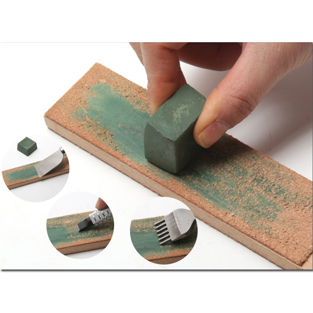 Green Alumina Rouge Abrasive Polishing Paste Buffing Compound Metal Grinding for Removing deep Scratches From Soft Metals