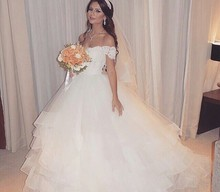 Vestidos De Novia Largos 2016 Elegant Ball Gown Wedding Dress Sweetheart Floor-length Bridal Gowns