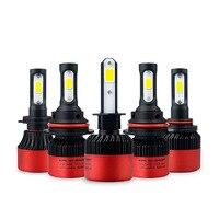 AUXITO H4 LED H7 H11 H8 9006 HB4 H1 9005 HB3 9012 HIR2 H13 9004 9007 COB הנורה ערפל אור רכב פנס 72 W 16000LM אוטומטי A2 מנורת
