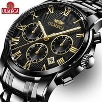 Relojes OLMECA para Hombre  Reloj de lujo de marca superior  Reloj para Hombre  Reloj a prueba de agua  Reloj cronógrafo  Reloj para Hombre  para Hombre