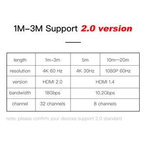 Image 3 - SL HDMI câble 2.0 3D HDR 4K 60Hz pour commutateur de répartiteur PS4 LED TV xbox projecteur ordinateur câble hdmi 1m 2m 3m 5m 10m 15m 20m