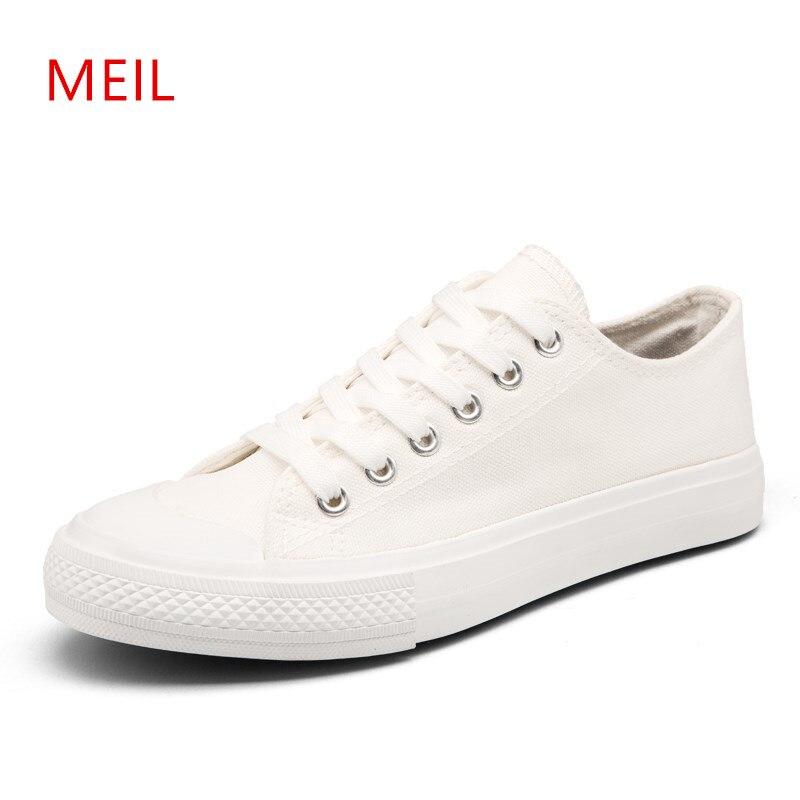 Hombres Jóvenes Casual Blanco Lona Zapatillas Transpirable Negro Zapatos Hombre Clásicos P0wO8nXk