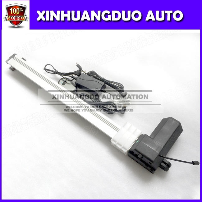 28 Inch 700mm Stroke DC12V/ 24V 20mm/s Heavy Duty Push 150Kg , Motorized Tv Lift Linear Actuator With Wired Handle Control