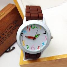 9s & cheap Unisex Silicone Quartz Sports Style Watch Women Jelly Wrist Watch High Quality Watch 0717
