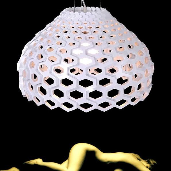 Italian New TATOU droplight Exported Cubic Lattice Hive Acrylic Pendant Light italian visual phrase book