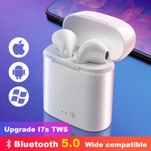 i7s tws Wireless Bluetooth Earphone Headset Stereo Earbud Earphones With Charging Box for Smart Phone Bluetooth Headphone(China)