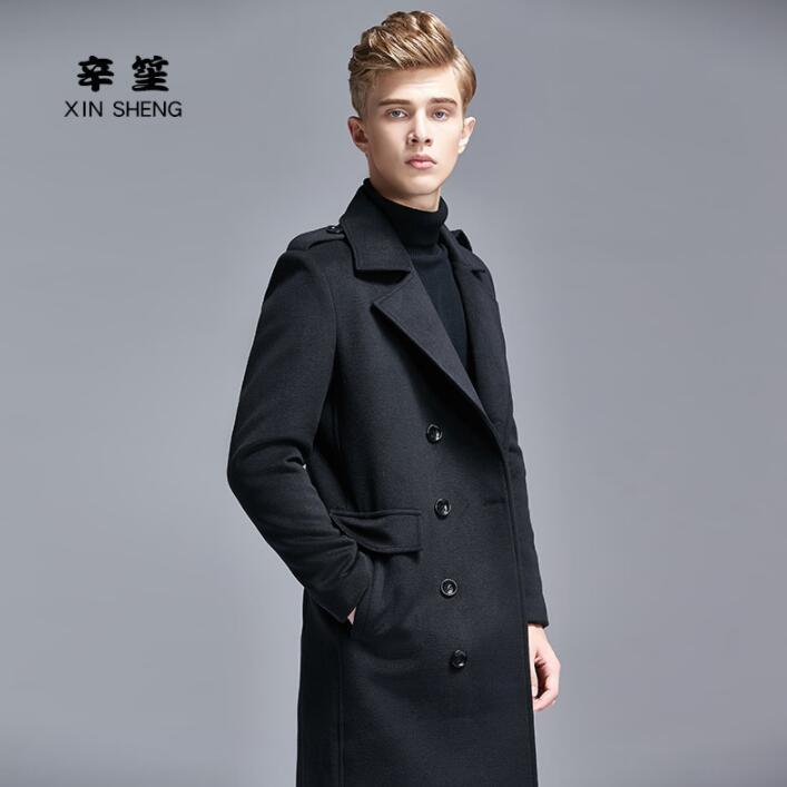 Cachemire Laine Manteau Masculino Hommes coats Angleterre Noir Hiver De Inverno Pardessus Long Casaco Trench Longues Automne En Manches KFJ1lcT
