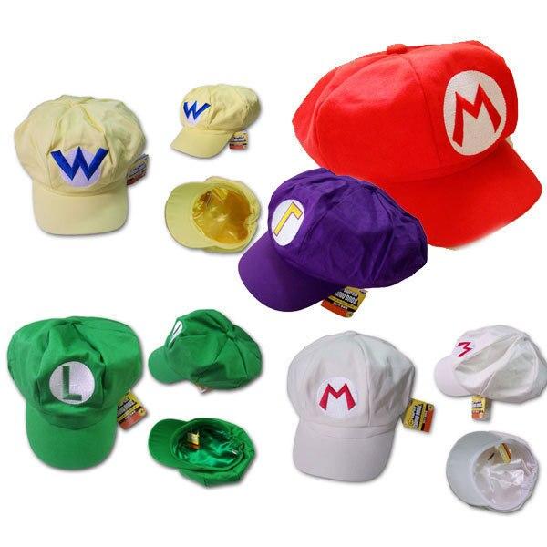 bddfcce976241 4 cores Super Mario Bros Hat Anime Cap Cosplay Hat Mario Luigi Cap boina  para brinquedos