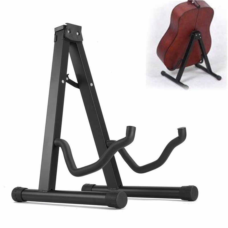 Foldable Folding Lightweight Portable Guitar Bass Cello Stringed Instrument Stand Holder for Professional Guitarist