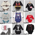 Brand New Baby Bodysuits Hot Sale Long Sleeve Boys Bodysuit 100% Cotton baby clothes body bebe ropa