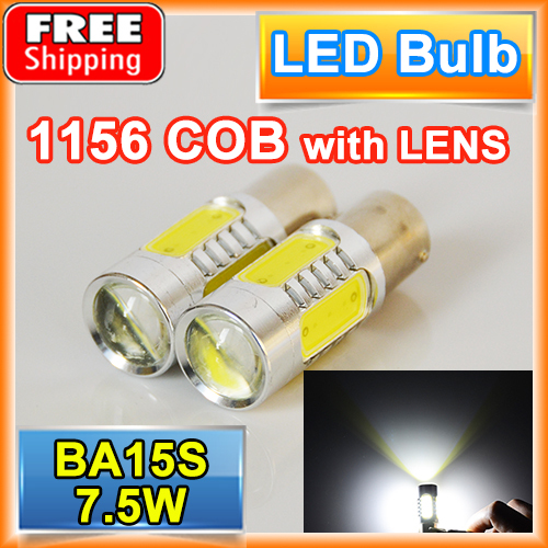flytop 2 PCS BA15S 7.5W High Power S25 P21W 1156 COB Car LED Lamp 12V XENON Light Tail Brake Fog Turn Signal Bulbs цены