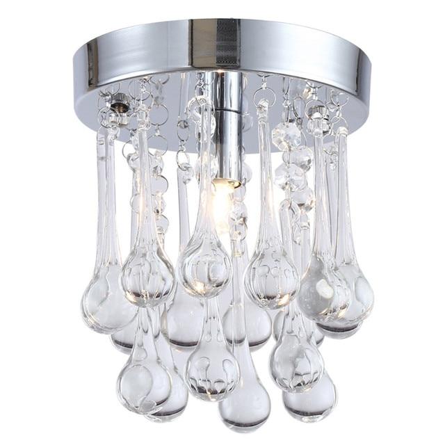 Moderne Mini Regen Drop Stil Klarem Kristall Pendelleuchte, E14 Basis  Leuchte Für Wohnzimmer Dekor