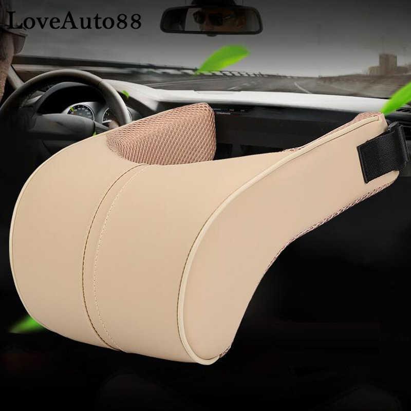 Para Toyota RAV4 RAV-4 2019 2020 PU cuero Auto cuello almohada de espuma de memoria almohadas de descanso para el cuello asiento cojín reposacabezas almohadilla