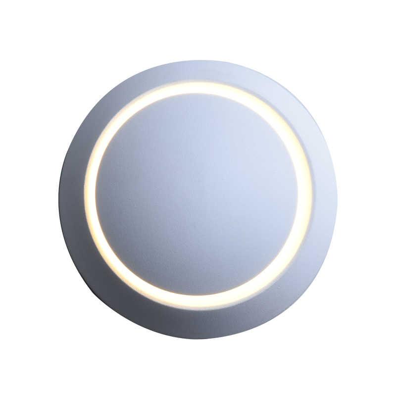 QLTEG светодиодный настенный светильник 360 градусов вращение Регулируемая прикроватная лампа 4000 K Черный креативный настенный светильник черный современный прохода круглый светильник
