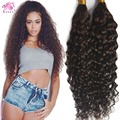 8A Deep Curly Human Braiding Hair Bulk Unprocessed Brazilian Hair 100 Bulk Virgin Human Hair For Braiding Wholesale Color #2
