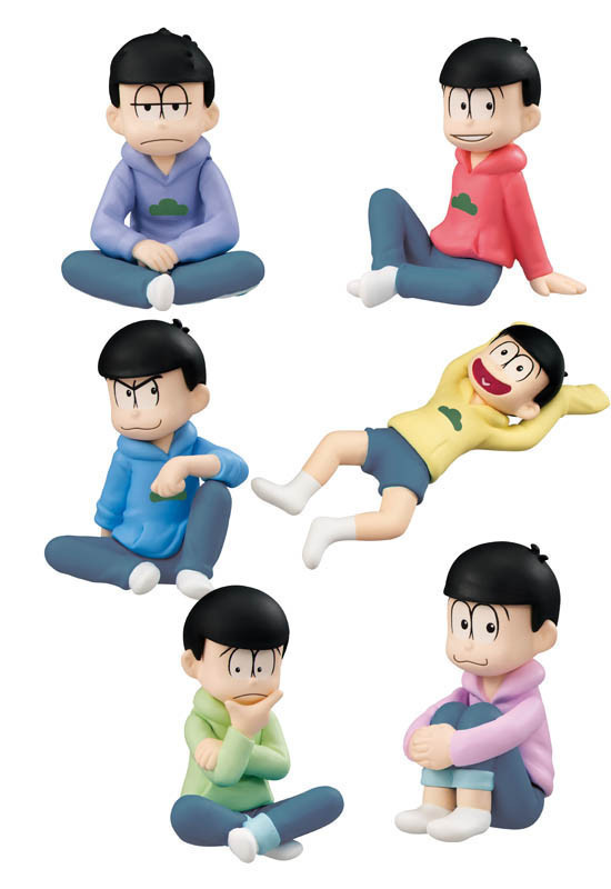 NEW hot 5cm 6pcs/set Matsuno Osomatsu osomatsu kun Osomatsu San Ichimatsu Paperweight action figure toys collection toy doll