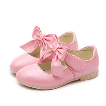 NEW Spring Autumn baby girls shoes bowknot soft-soled baby shoes girls Kids leather shoes 9.5 10 11 11.5 12.5 13.5 1 2 3 3.5 4 цена