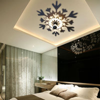 8 Design Modern LED Wall Lamp E27 Blub Mandala Rose Flower Leaf Lamp Projection Shadow Warm Lighting Nordic Acrylic Home Decor