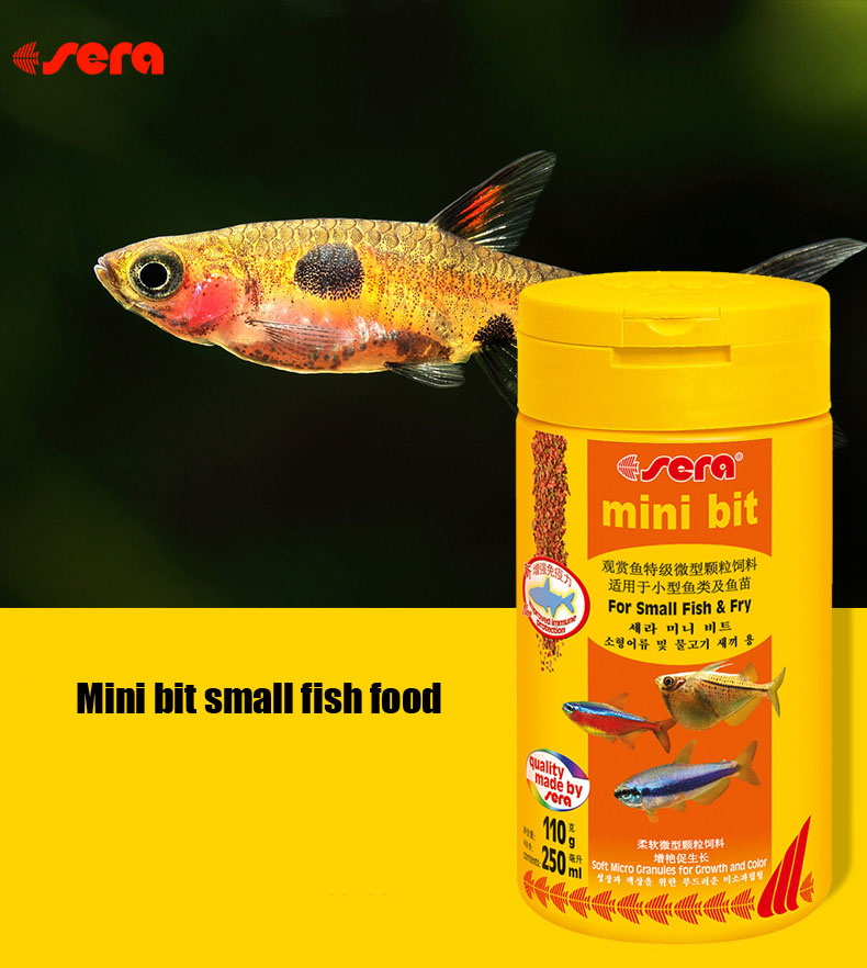 Sera mini bit baby small tropical fish food granules for Baby koi food
