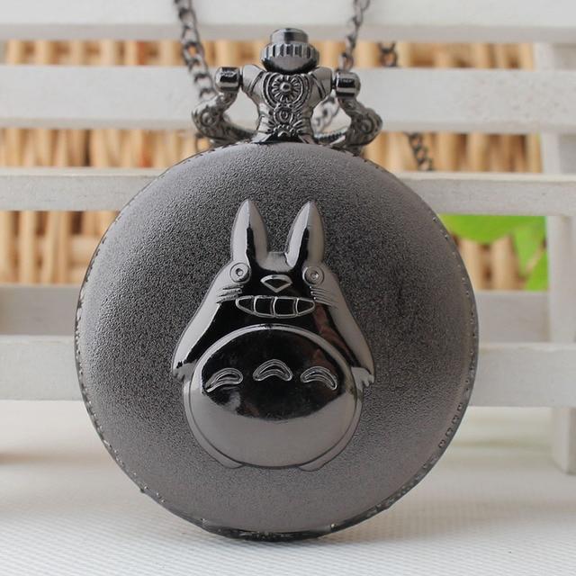 Anime Totoro Steampunk Pocket Watch Necklace Chain Men Women Fob Anime Watch Vin