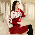 2016 Spring New Two-piece Suit Large Size Women's Fashion Knitted Sweaters And Short Skirts