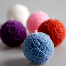 4pcs Wedding decorative candles romantic rose ball flower candle for birthday party wedding favors and gifts wedding supplies