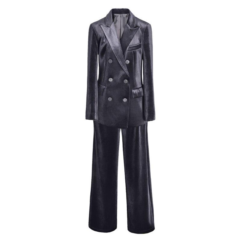 Small Suit Suits Womens Clothes 2018 Autumn Winter New Gold Velvet 2