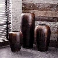 Jia gui luo 120 cm Jingdezhen Creative Retro Ceramic Villa Hotel Floor Large Vase Modern Living Room Home Soft Decoration