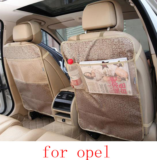 For opel astra h g opel insignia corsa car seat covers baby Kick protector mats black beige waterproof car accessories interior