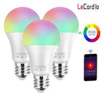 3 шт 11 W Смарт светодиодный лампы Wi-Fi RGB белый Функция времени затемнения светодиодный светильник 110 В совместим с Amazon Alexa/Google Home Assistant