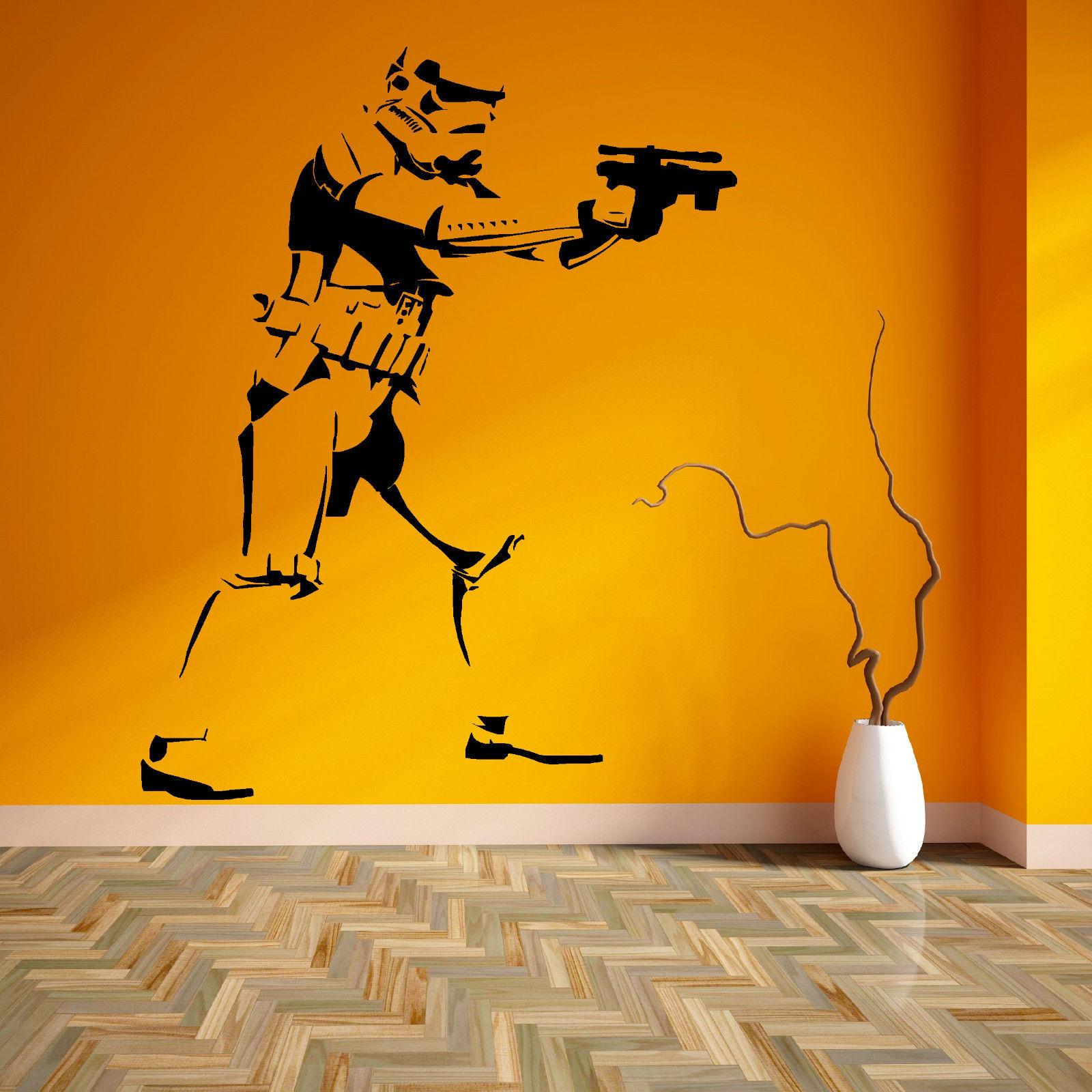 Online Shop D256 STAR WARS STORM TROOPER WALL ART VINYL ROOM STICKER ...