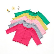 Baby Girl Coat Casual Outerwears 6Y Girls Jacket Candy Color Coat Baby Thin Coat Outfits New Autumn Boys Girls Coat Tops