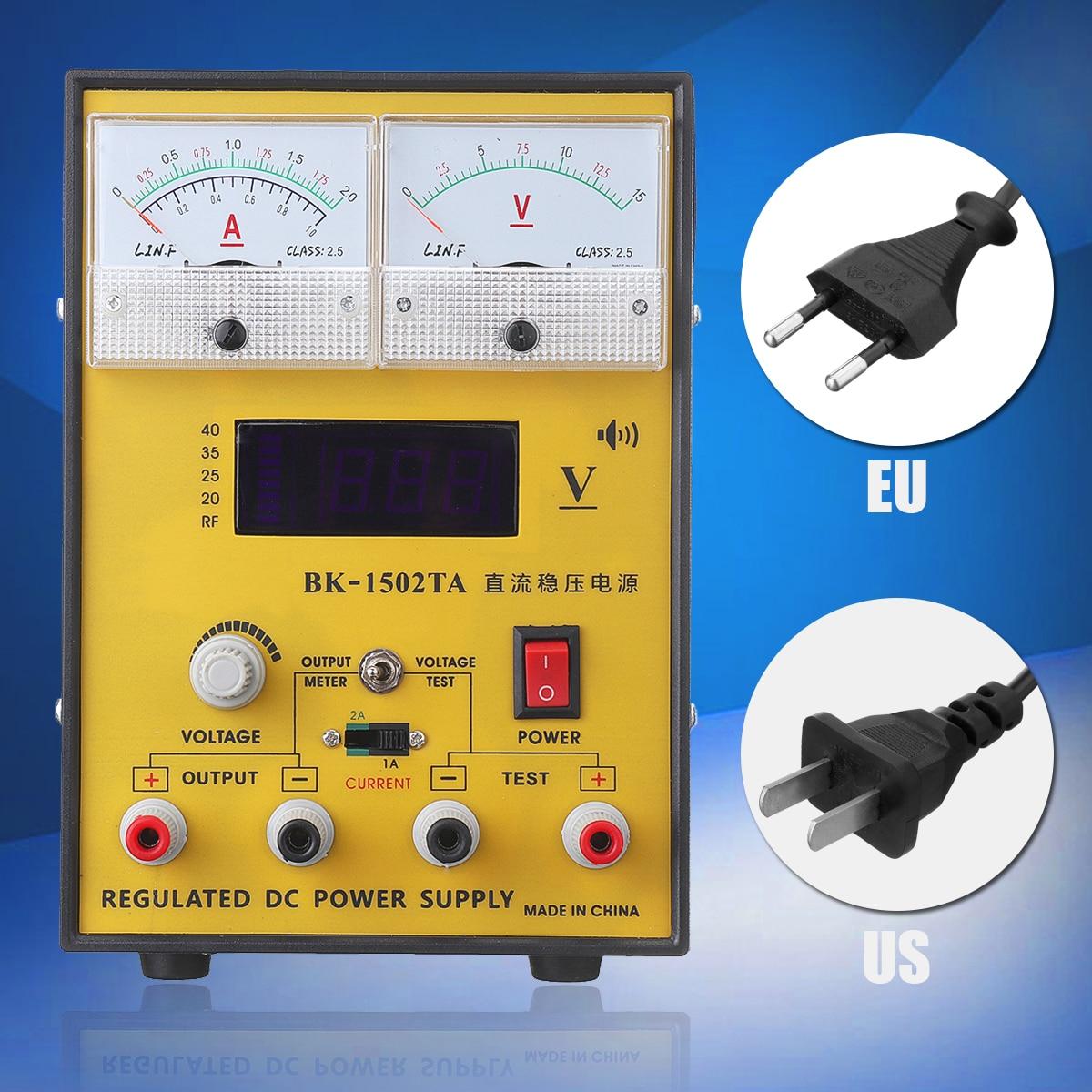 110V/220V 15V 2A Portable Digital LED DC Power Supply Adjustable Regulator EU Plug/US Plug Power Supply rps3020d 2 digital dc power adjustable power 30v 20a power supply linear power notebook maintenance