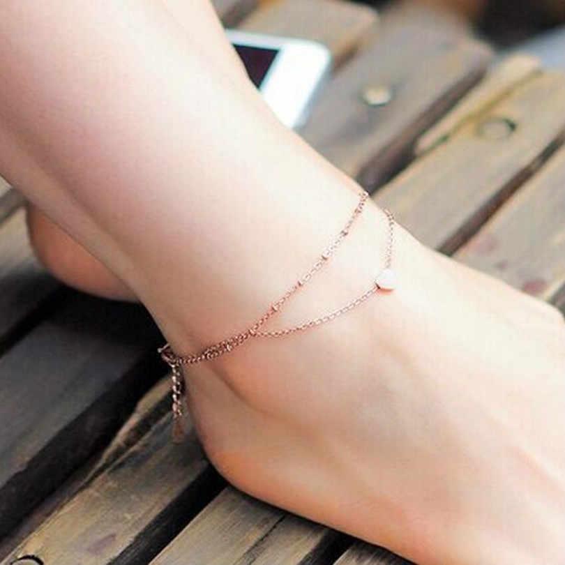 Модные украшения в форме сердца женский браслет босиком крючком сандалии ноги Новый Чешский ножной браслет женский браслет
