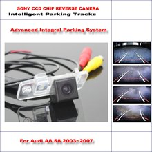 High Quality 3089 Chip Intelligentized Rear Camera For Audi A8 S8 / Audi Q7 / Q7 TDI NTSC PAL RCA AUX HD SONY CCD 580 TV Lines цена