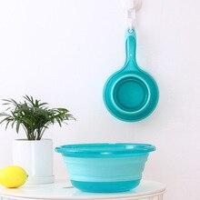 Портативная Складная ложка для воды, кухонная ложка с большой ручкой, складная ложка для воды, кухонные инструменты, складная ложка для воды
