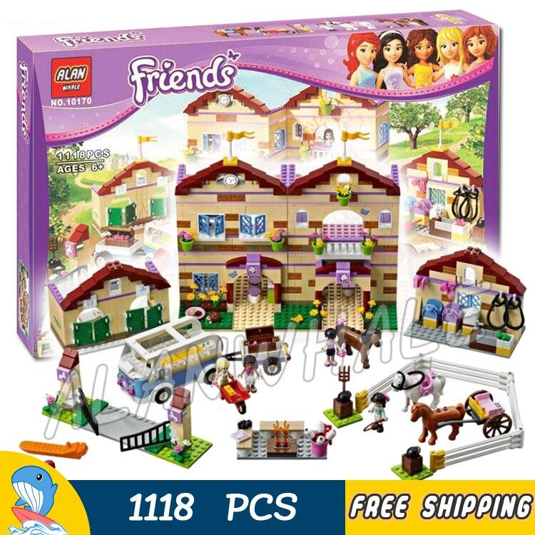 1118 шт. друзья heartlake летом езда лагерь 10170 лошадей Чемпион Foxy солнце модель строительных блоков игрушки совместим с Lego