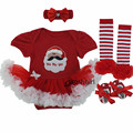 Baby Christmas Clothes Romper Tutu Dress Cotton Cartoon Santa Claus Toddler Festival Costumes For Newborns Infant Birthday Gift