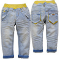 3850 baby jeans trousers pants light Blue baby boys jeans girls child spring autumn CHILDREN'S  trousers KIDS pants
