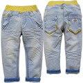 3850 calças do bebê calças jeans luz Azul jeans meninos meninas criança primavera outono CRIANÇAS calças do bebê calças INFANTIS