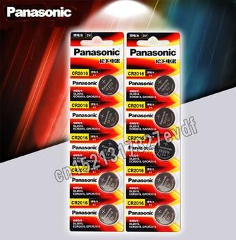 Panasonic Высокое качество литиевая батарея 10 шт./лот 3V li-ion cr2016 кнопка батареи часы монета батареи cr 2016 DL2016 ECR2016 GPCR