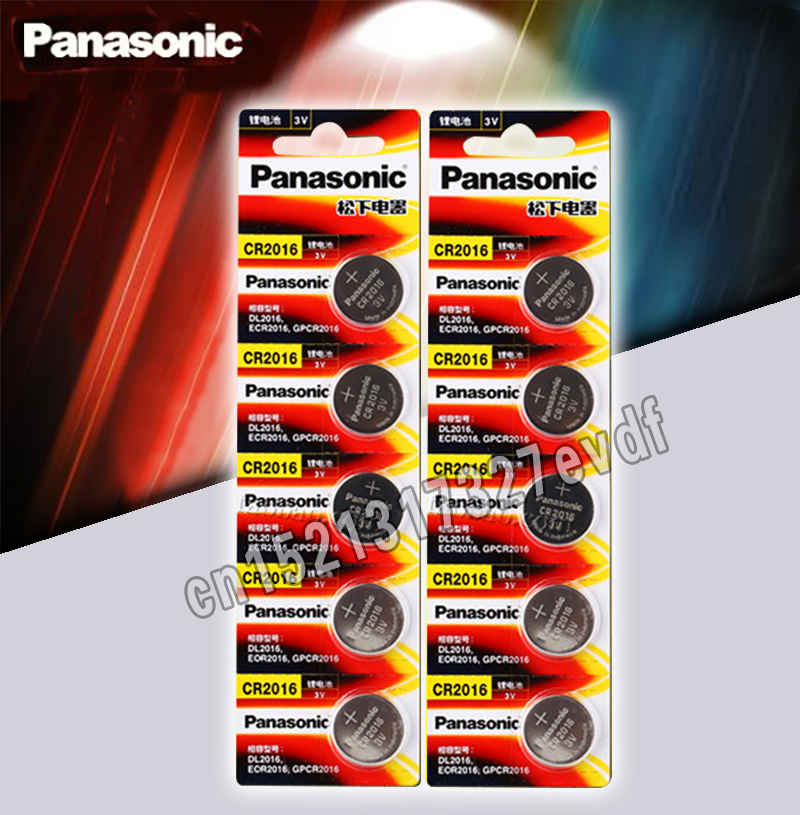 Panasonic Top Quality Lithium Battery 10PCS/LOT 3V Li-ion Cr2016 Button Battery Watch Coin Batteries Cr 2016 DL2016 ECR2016 GPCR