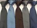 2016 новые прибытия Люксовый Бренд L Семьи шелковый галстук бизнес качество галстук мужской шелк жаккард шелковый галстук подарок на день рождения