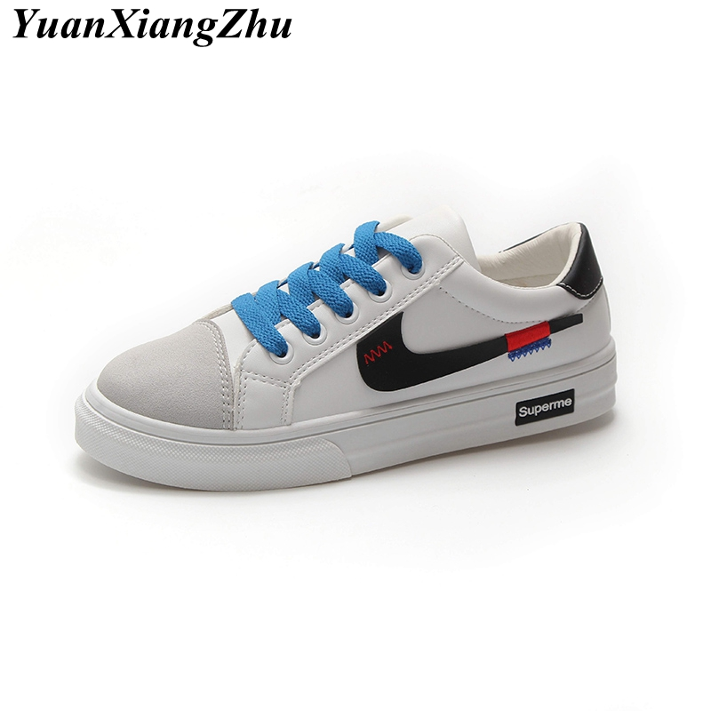 Women Casual Shoes 2018 Autumn New Korean Female Harajuku Shoes White Fashion Student Flat Shoes Woman Sneakers Chaussure Femme mycolen 2018 spring autumn sports shoes korean leather women s new small white shoes new fashion cowhide shoes women casual