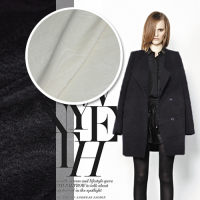 Elegant Ultra Ruannuo 2 Colors Jacquard Cashmere Wool Coat Thick Cloth Fabric