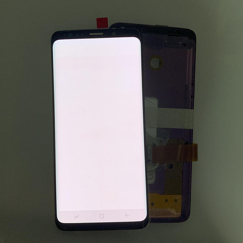 SUPER AMOLED has the Burn-Shadow LCD with Frame for SAMSUNG Galaxy S9 G960 S9 Plus G965 Touch Screen Digitizer Assembly